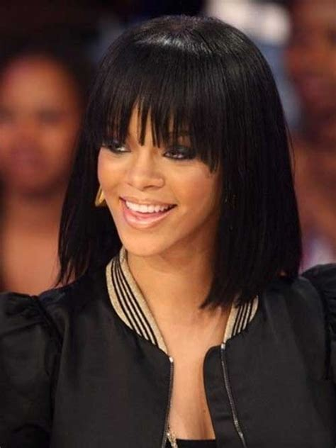 Rihanna Bob Hairstyles by Hairstyles With Bangs