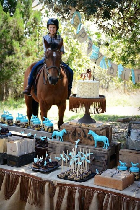 horse themed events rustic horse birthday party on kara s party ideas