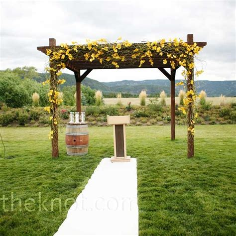 moss ceremony pergola wedding flowers pinterest