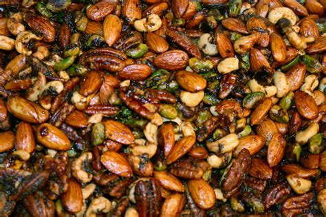Roasted Nuts spicy rosemary roasted nuts