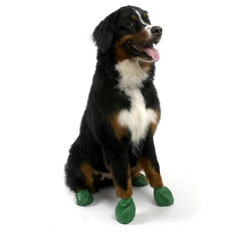 dogs naturally pawz rubber boots the green