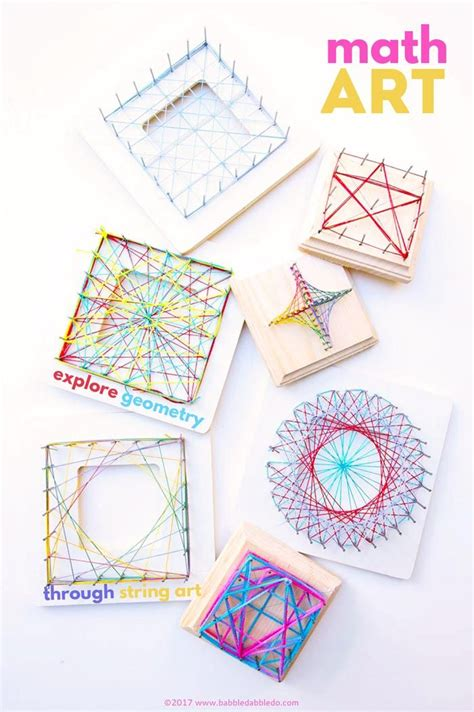 math craft projects a beautiful steam project for math string