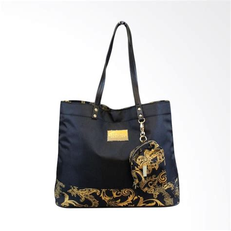 jual versace parfums canvas tote bag with purse original