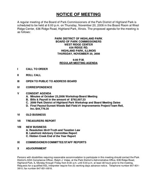 notice of meeting template 8 best images of board meeting notice sle board