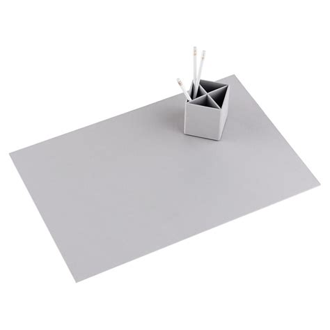 Desk Pad by Bigso Light Grey Stockholm Desk Blotter The Container Store