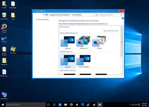theme windows 10 aero get different active and inactive windows in windows 10