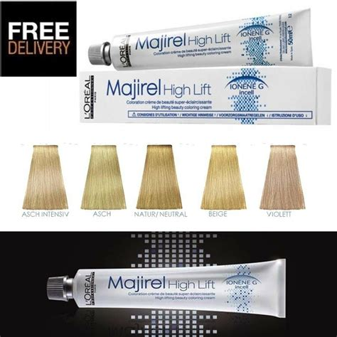 majirel majirouge high lift hair colours loreal tint dye all colours stocked ebay loreal l oreal professional majirel high lift hair dye colour permanent 50ml ebay