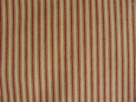 ticking drapes primitive country barn red and tan ticking fabric shower