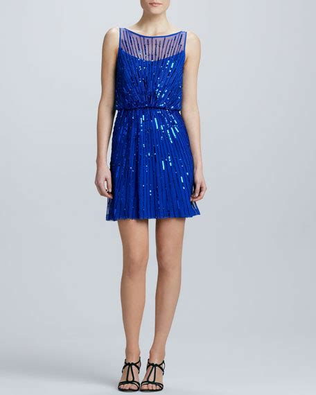 boat neck dress cocktail aidan mattox boat neck sequined cocktail dress