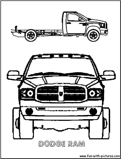 dodge trucks colouring pages