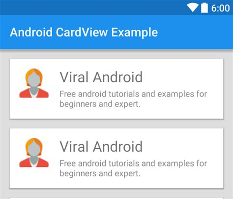 android tutorials android cardview exle viral android tutorials exles ux ui design