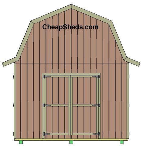 Barn Shed Plans by Gambrel Barn Style Sheds