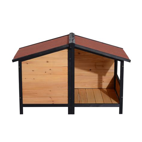 dog house clearance pawhut medium elevated dog house with opening roof pets clearance