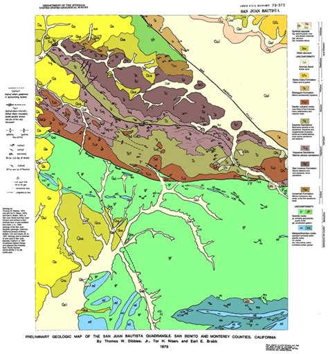 geologic map san jose quadrangle geology cafe