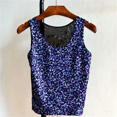 Luxury Top Blouse Crop Bludru luxury sequins shiny top o neck crop slim fit blouse