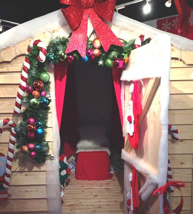 hiring christmas decorating grotto hire and set decoration bubbles crew
