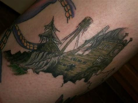 sunken ship tattoo designs try a new pirate ship design 187 ideas