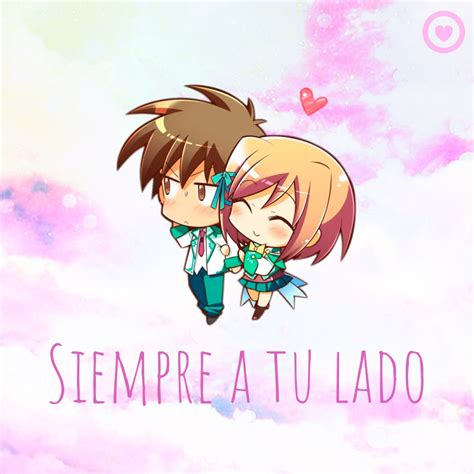 imagenes de amor kawai linda tarjeta de amor con pareja kawaii