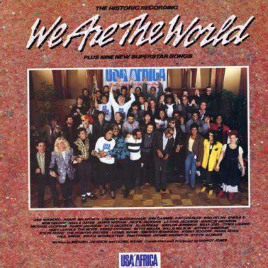 testo della canzone we are the world canzoni contro la guerra we are the world