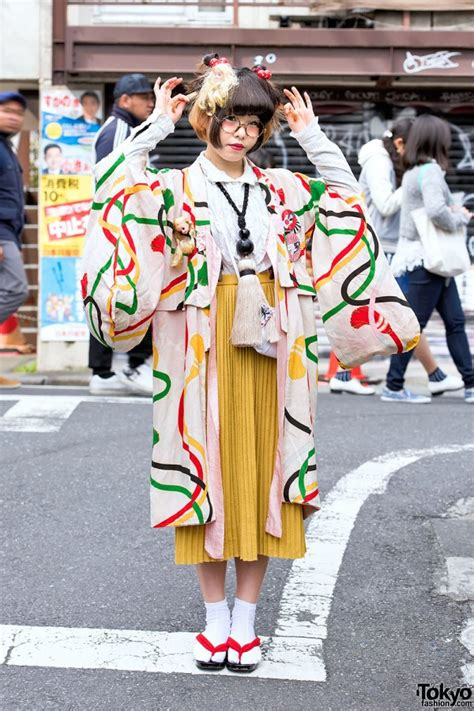doll fashion in japan kimono doll heads tassel necklace in harajuku