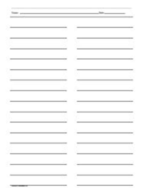 Clear Kitchen Canisters by Ruled Paper With Two Columns Printables Amp Lists