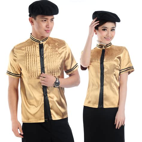 design your own cafe uniform free shipping summer work wear male female restaurant