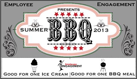 bbq ticket template free employee summer bbq on behance
