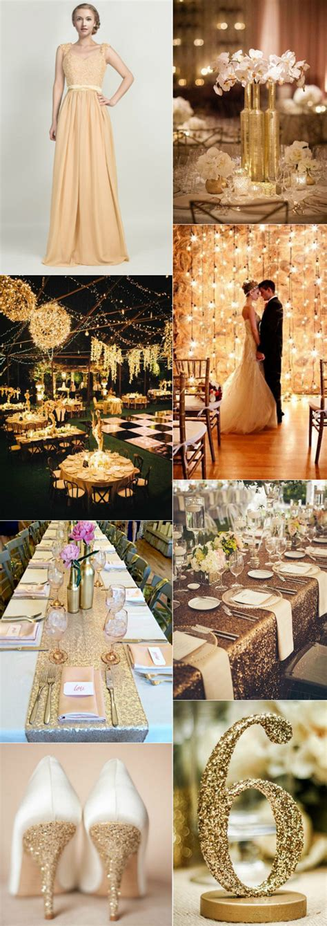 color themes in the great gatsby 2016 wedding color trend 4 most loved metallic color