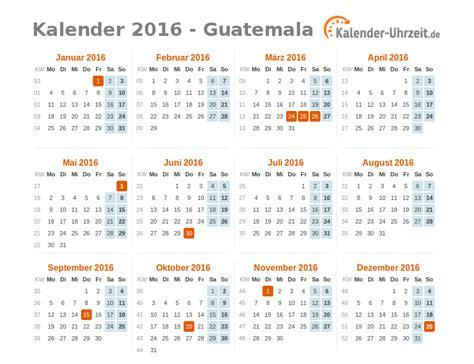 Feiertage Kalender 2016 Feiertage 2016 Guatemala Kalender 220 Bersicht