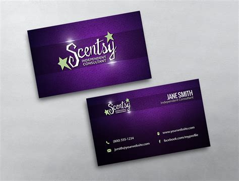 scentsy business card template scentsy business card 07