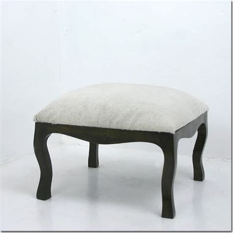 Cowhide Low Stool Contemporary Footstools And Ottomans Low Ottoman