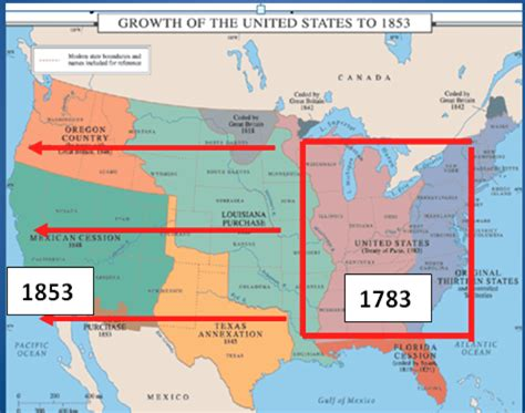 map of the united states during the westward expansion history with rivera january 2013
