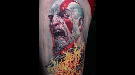 god of war tattoo god of war portrait