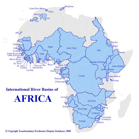 africa map lakes africa map rivers and lakes