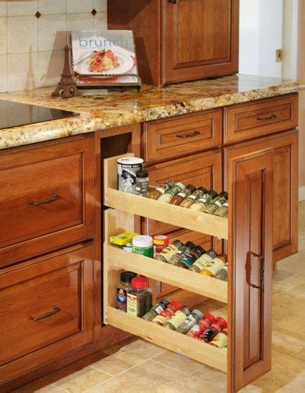 kitchen spice storage ideas 17 best images about kitchen cabinet ideas on home design marble top and spice racks