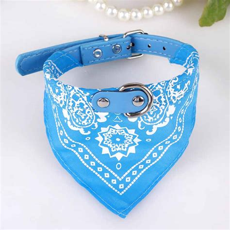 pretty collars small collars puppy pet slobber towel dogs cats print scarf adjustable