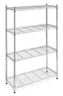 metal shelving for kitchens storage rack organizer 4 tier steel wire shelving unit