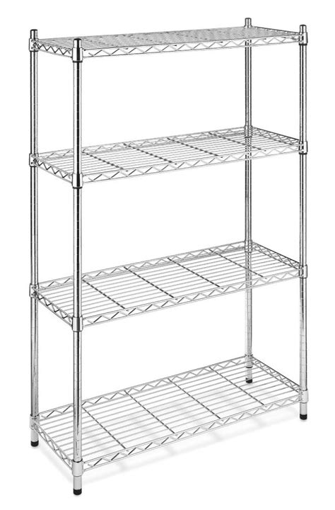 kitchen storage rack black chrome commercial 4 tier shelf adjustablesteel wire