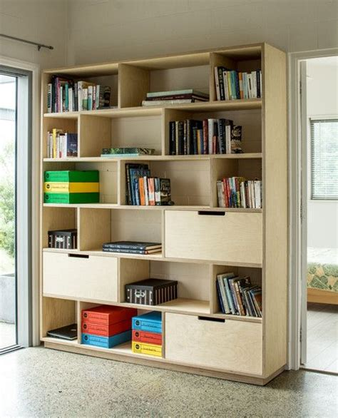 combination of bookshelf and office storage made from
