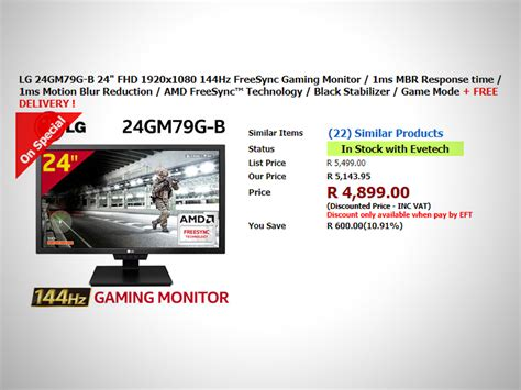 Monitor Led Lg Gaming Monitor 24 Inch 24gm79g awesome gaming and tech deals