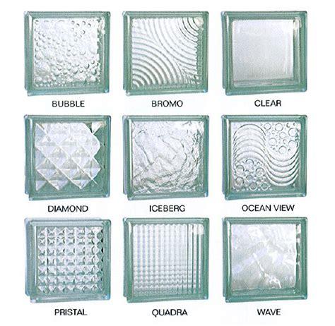 Different glass block patterns houston glass block