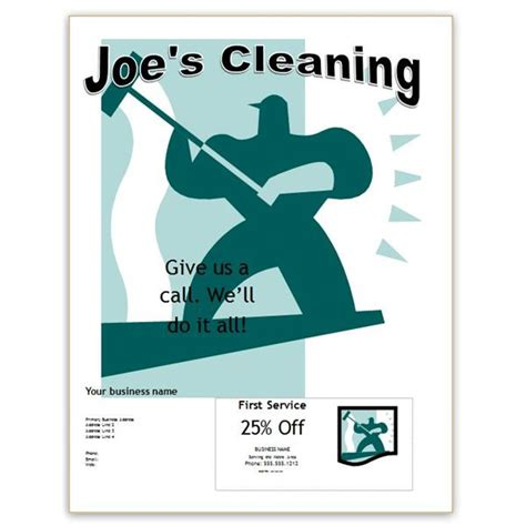janitorial flyer templates free office cleaning flyer templates for publisher and word