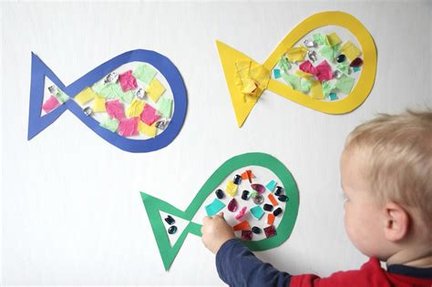 toddler craft projects toddler approved sticky fish craft for toddlers