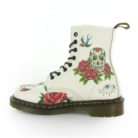tattoo care boots dr martens louie womens leather tattoo print 8 eyelet