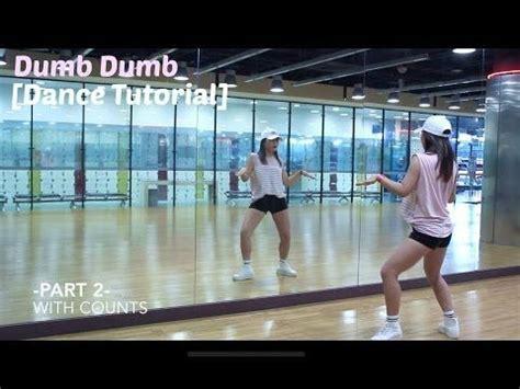 tutorial dance red velvet dumb dumb red velvet 레드벨벳 dumb dumb lisa rhee dance tutorial youtube