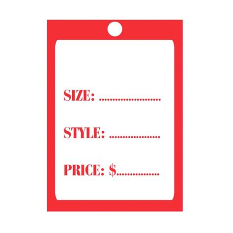 swing tag size size style price swing tag tag printed with size style