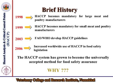 haccp d馭inition cuisine haccp for the safety of livestock products