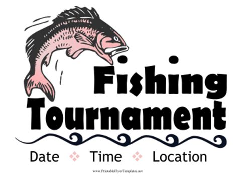 fishing tournament flyer template fishing tournament flyer