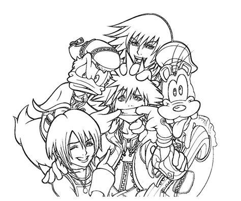 Kingdom Hearts Coloring Page Kingdom Hearts 2 Coloring Pages Az Coloring Pages