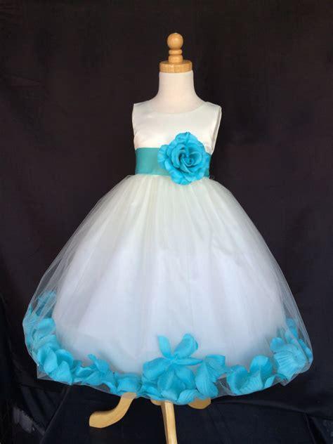 ivory wedding bridal bridesmaids petal flower dress toddler 9 12 18 24 months 2 4 6 8 10 12